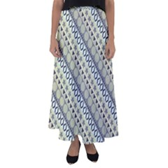 Abstract Seamless Pattern Flared Maxi Skirt