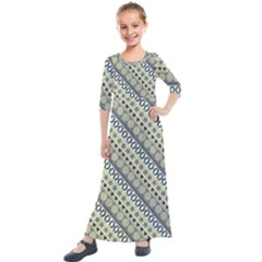 Abstract Seamless Pattern Kids  Quarter Sleeve Maxi Dress by Jojostore
