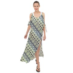 Abstract Seamless Pattern Maxi Chiffon Cover Up Dress
