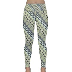 Abstract Seamless Pattern Lightweight Velour Classic Yoga Leggings