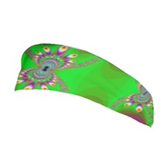 Green And Purple Fractal Stretchable Headband