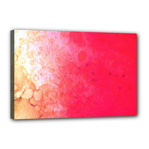 Abstract Red And Gold Ink Blot Gradient Canvas 18  X 12  (stretched) by Jojostore
