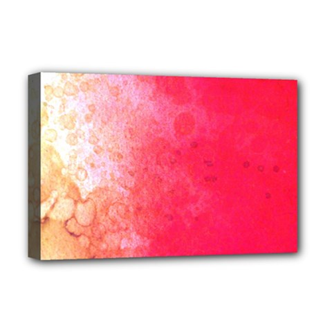 Abstract Red And Gold Ink Blot Gradient Deluxe Canvas 18  X 12  (stretched) by Jojostore