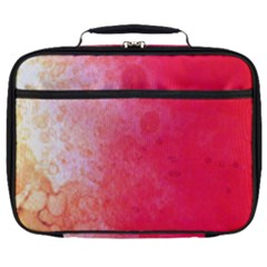 Abstract Red And Gold Ink Blot Gradient Full Print Lunch Bag by Jojostore
