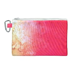Abstract Red And Gold Ink Blot Gradient Canvas Cosmetic Bag (large) by Jojostore