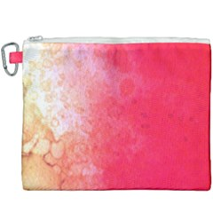 Abstract Red And Gold Ink Blot Gradient Canvas Cosmetic Bag (xxxl) by Jojostore