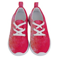 Abstract Red And Gold Ink Blot Gradient Running Shoes by Jojostore