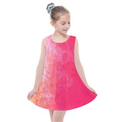 Abstract Red And Gold Ink Blot Gradient Kids  Summer Dress by Jojostore