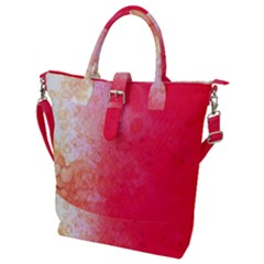 Abstract Red And Gold Ink Blot Gradient Buckle Top Tote Bag
