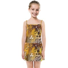 Symbols On Gradient Background Embossed Kids Summer Sun Dress