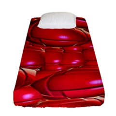 Red Abstract Cherry Balls Pattern Fitted Sheet (single Size)
