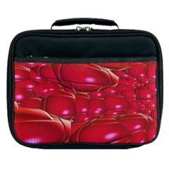 Red Abstract Cherry Balls Pattern Lunch Bag by Jojostore