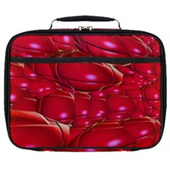 Red Abstract Cherry Balls Pattern Full Print Lunch Bag by Jojostore