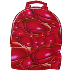 Red Abstract Cherry Balls Pattern Mini Full Print Backpack