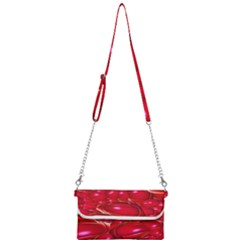 Red Abstract Cherry Balls Pattern Mini Crossbody Handbag by Jojostore