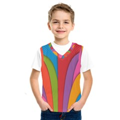 Modern Abstract Colorful Stripes Wallpaper Background Kids  Sportswear