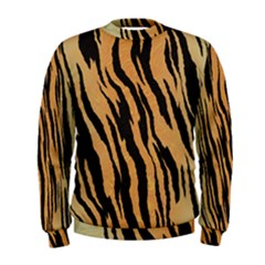 Tiger Animal Print A Completely Seamless Tile Able Background Design Pattern Men s Sweatshirt