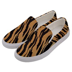 Tiger Animal Print A Completely Seamless Tile Able Background Design Pattern Men s Canvas Slip Ons by Jojostore
