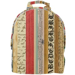 Digitally Created Collage Pattern Made Up Of Patterned Stripes Mini Full Print Backpack by Jojostore