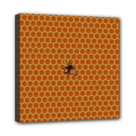 The Lonely Bee Mini Canvas 8  X 8  (stretched) by Jojostore