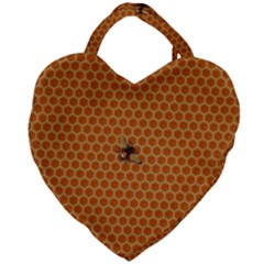The Lonely Bee Giant Heart Shaped Tote