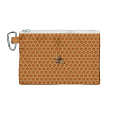 The Lonely Bee Canvas Cosmetic Bag (medium) by Jojostore
