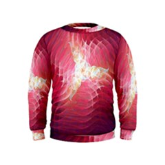 Fractal Red Sample Abstract Pattern Background Kids  Sweatshirt