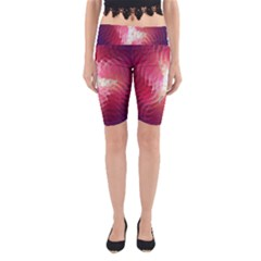 Fractal Red Sample Abstract Pattern Background Yoga Cropped Leggings