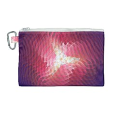 Fractal Red Sample Abstract Pattern Background Canvas Cosmetic Bag (large) by Jojostore