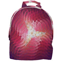 Fractal Red Sample Abstract Pattern Background Mini Full Print Backpack by Jojostore