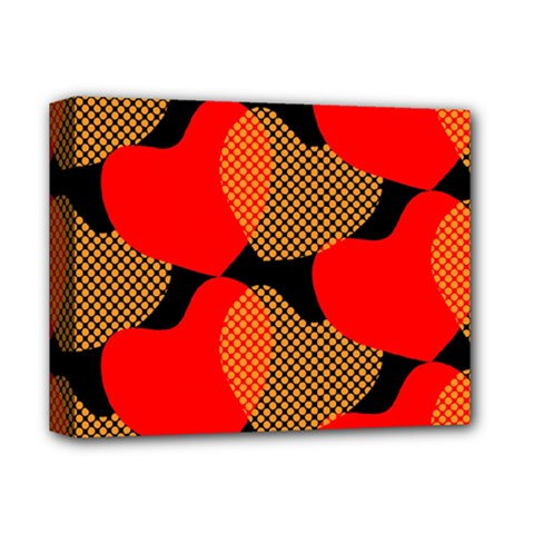 Heart Pattern Deluxe Canvas 14  X 11  (stretched) by Jojostore