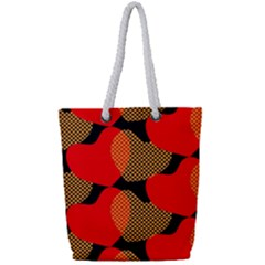 Heart Pattern Full Print Rope Handle Tote (small)