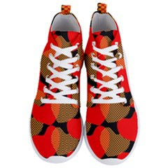 Heart Pattern Men s Lightweight High Top Sneakers