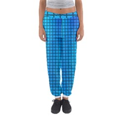 Seamless Blue Tiles Pattern Women s Jogger Sweatpants