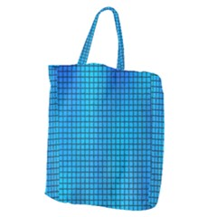 Seamless Blue Tiles Pattern Giant Grocery Tote