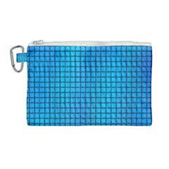 Seamless Blue Tiles Pattern Canvas Cosmetic Bag (large)