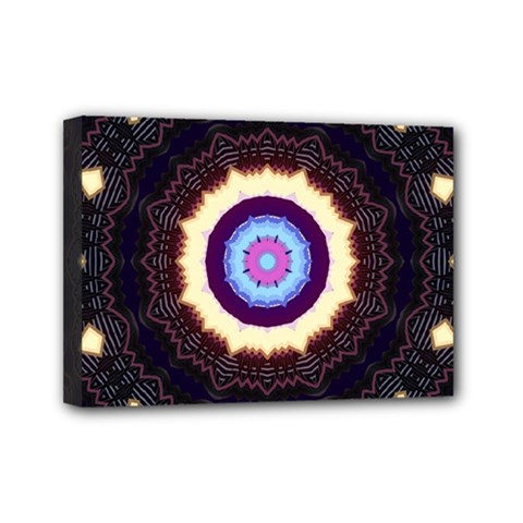 Mandala Art Design Pattern Ornament Flower Floral Mini Canvas 7  X 5  (stretched) by Jojostore