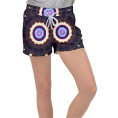 Mandala Art Design Pattern Ornament Flower Floral Women s Velour Lounge Shorts