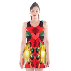 Abstract Abstract Digital Design Scoop Neck Skater Dress