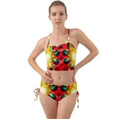 Abstract Abstract Digital Design Mini Tank Bikini Set