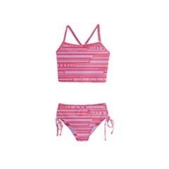 Index Red Pink Girls  Tankini Swimsuit