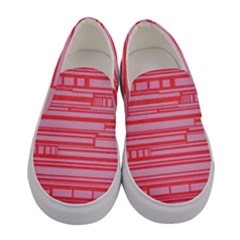 Index Red Pink Women s Canvas Slip Ons