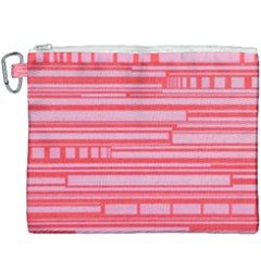 Index Red Pink Canvas Cosmetic Bag (xxxl)