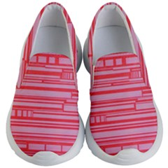 Index Red Pink Kid s Lightweight Slip Ons