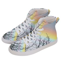 Rainbow Sky Spectrum Rainbow Colors Men s Hi Top Skate Sneakers by Jojostore