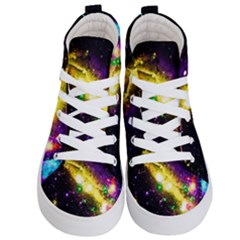 Galaxy Deep Space Space Universe Stars Nebula Kid s Hi Top Skate Sneakers