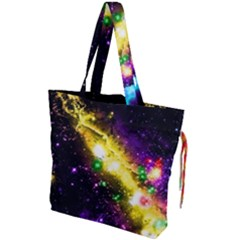 Galaxy Deep Space Space Universe Stars Nebula Drawstring Tote Bag by Jojostore