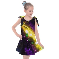 Galaxy Deep Space Space Universe Stars Nebula Kids  Tie Up Tunic Dress by Jojostore