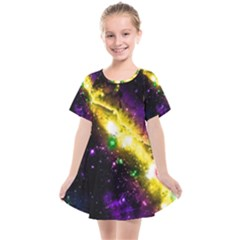 Galaxy Deep Space Space Universe Stars Nebula Kids  Smock Dress