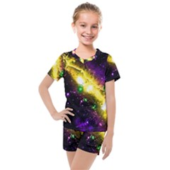 Galaxy Deep Space Space Universe Stars Nebula Kids  Mesh Tee And Shorts Set